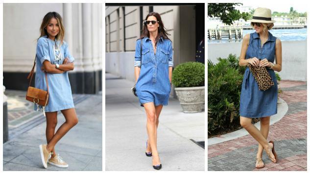 Evo kako se košulja-haljina od teksasa stilizuje ove sezone