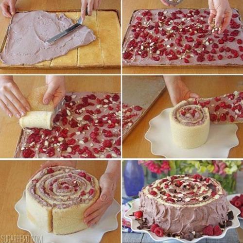 Jednostavna spiralna voćna torta