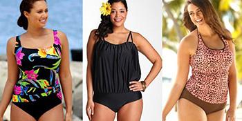 Kupaći kostimi za punije dame - ljeto 2012