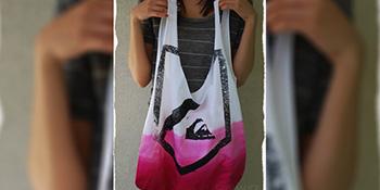 Napravite torbu od pamučne majice…