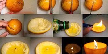 Napravite mirisnu svijeću od prave narandže