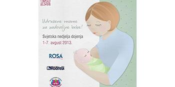 Svjetska nedjelja dojenja - Uz podršku do uspješnog dojenja