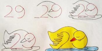 Naučite dijete da crta pomoću brojeva