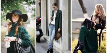 Modne kombinacije u očaravajućoj tamno zelenoj