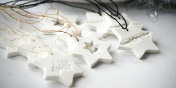 Napravite sniježno bijele ukrase od tijesta