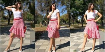 Kako se nosi Gingham suknja