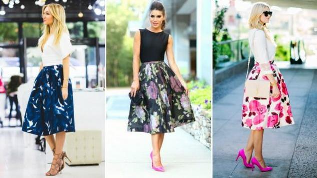 Proljećni trend: Midi suknje sa cvjetnim dezenom