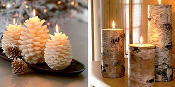 Svijeće kao novogodišnja dekoracija