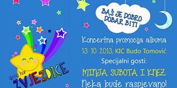 U nedjelju koncertna promocija novog albuma Zvjezdica