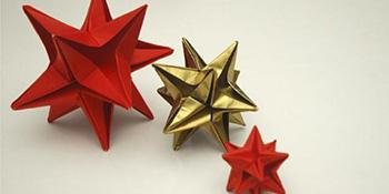 Kako napraviti origami novogodišnje ukrase
