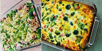 Musaka od brokolija, šunke i mocarele