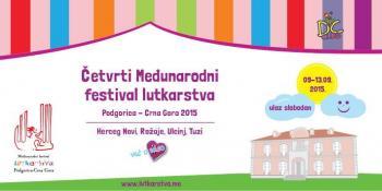Četvrti međunarodni festival lutkarstva od 9. do 13. septembra u Podgorici