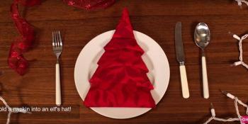 Kako da napravite origami jelku od platnene salvete
