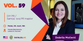 Besplatno Digitalizuj.me predavanje: Dobrila Močević - Sam(a) svoj PR majstor